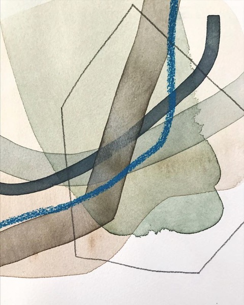 watercolor blues - Allison Kunath
